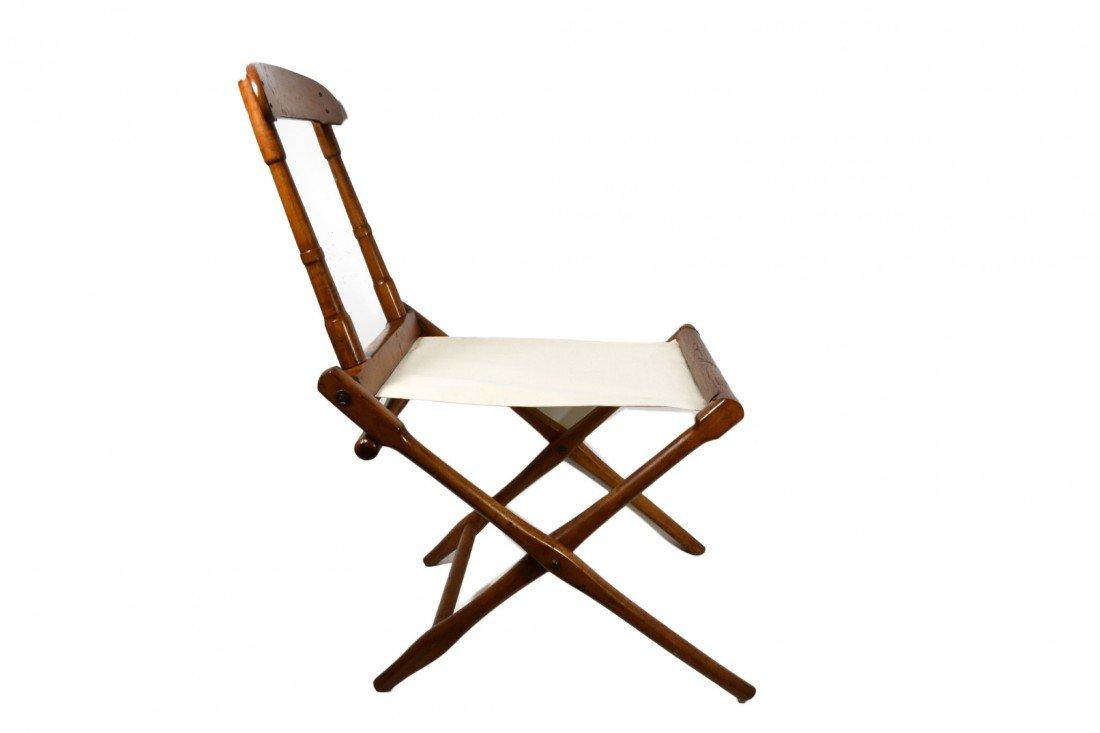 758: Camp Chair, folding 19th c. B. J. Harrison, NY