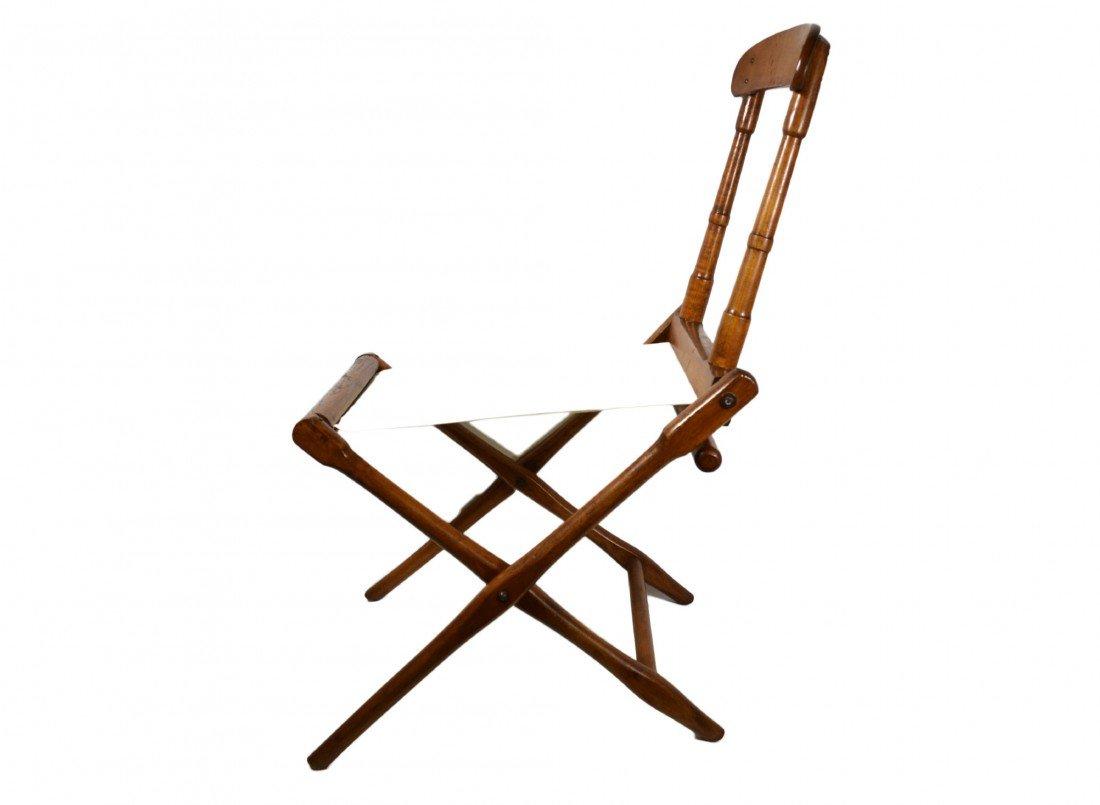 758: Camp Chair, folding 19th c. B. J. Harrison, NY - 2