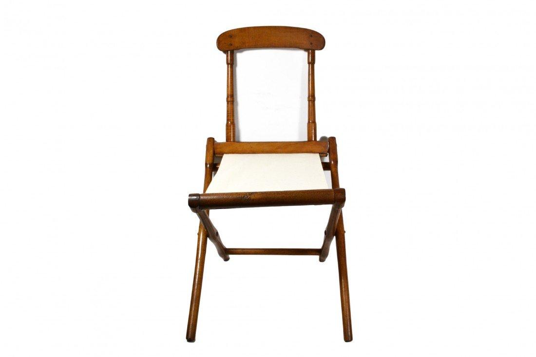 758: Camp Chair, folding 19th c. B. J. Harrison, NY - 3