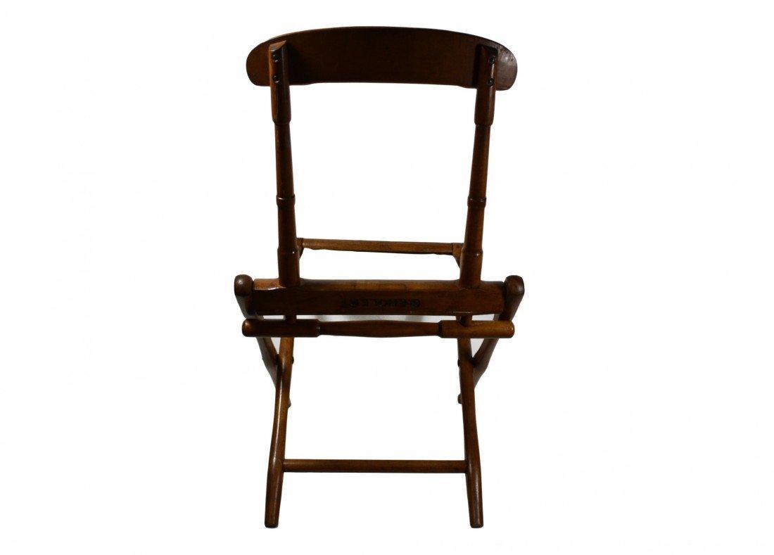 758: Camp Chair, folding 19th c. B. J. Harrison, NY - 4