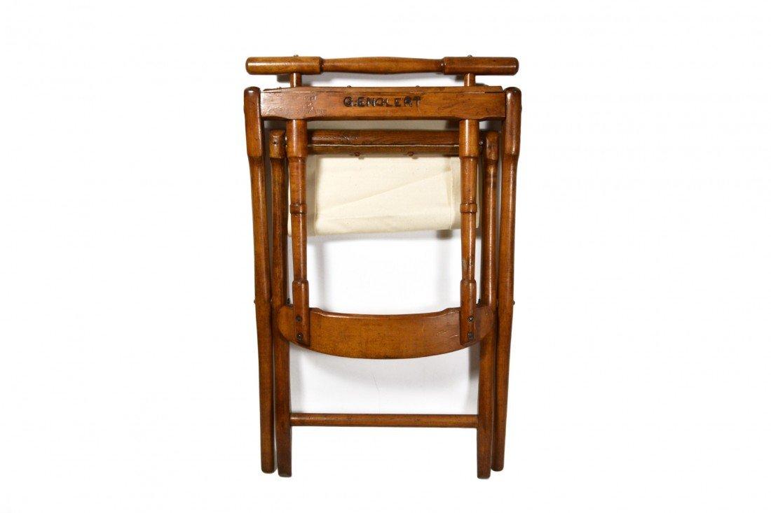 758: Camp Chair, folding 19th c. B. J. Harrison, NY - 7
