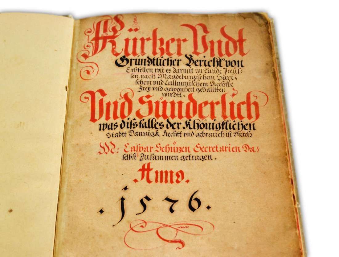 5: German Book, Dated 1576, Fish Watermark