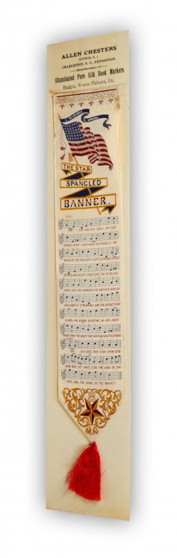 7: Bookmark, silk, Charleston South Carolina, 1901