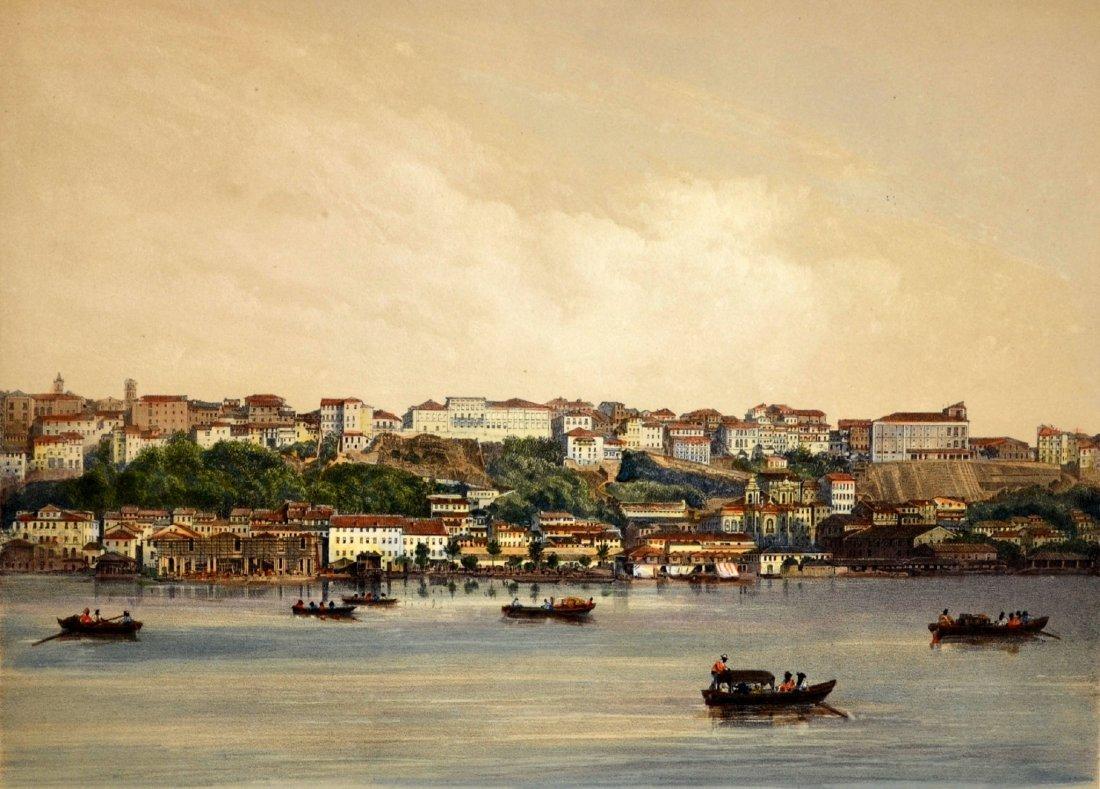 "281: Lithograph,""Vue De Bahia"", c1850"