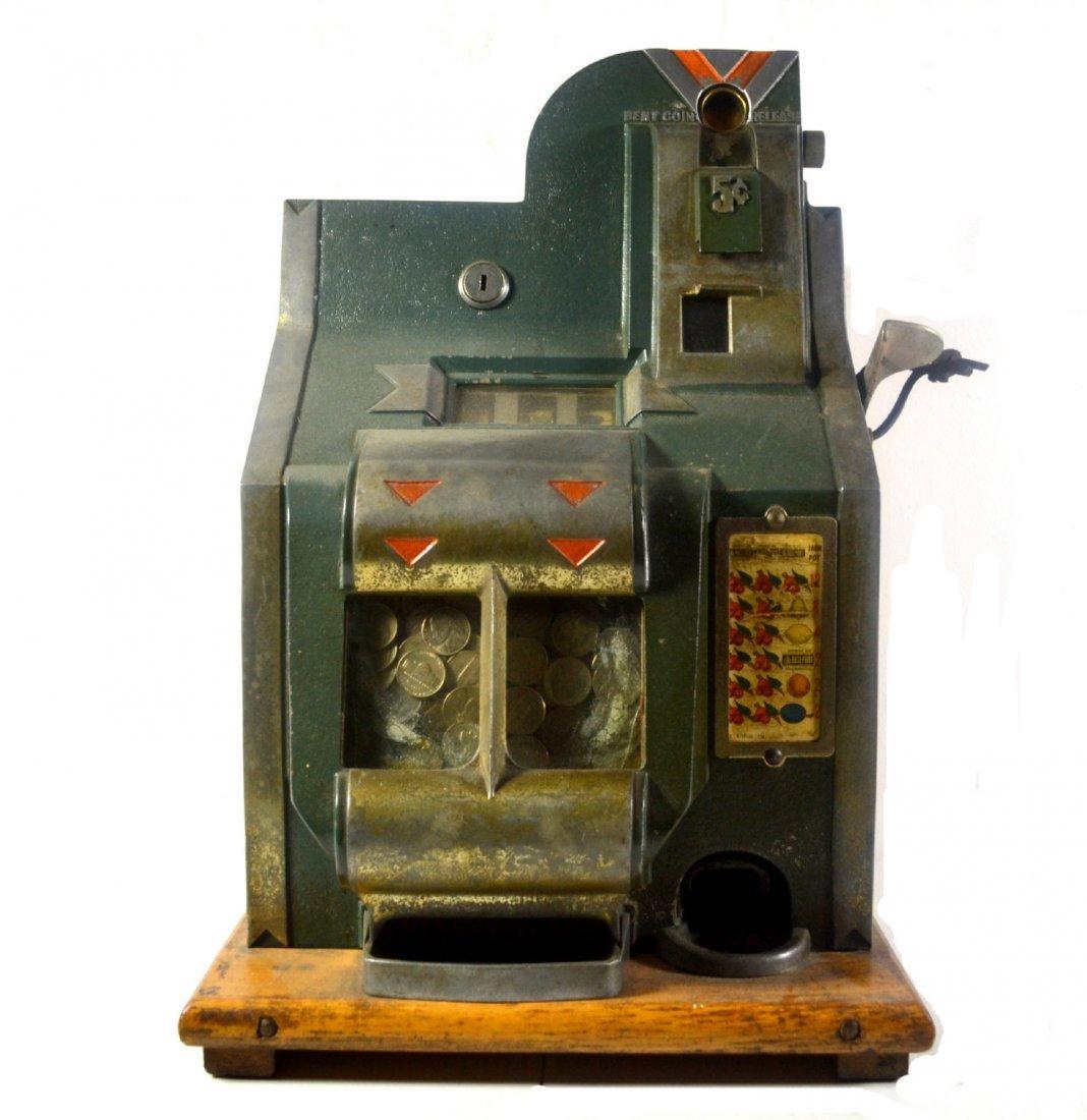 501: Slot Machine, Mills 5¢, Pat. 1919, Orig. labels