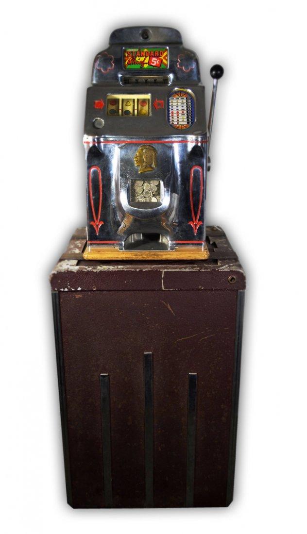 502: Slot Machine, Jennings, Standard Chief 5¢ & Stand