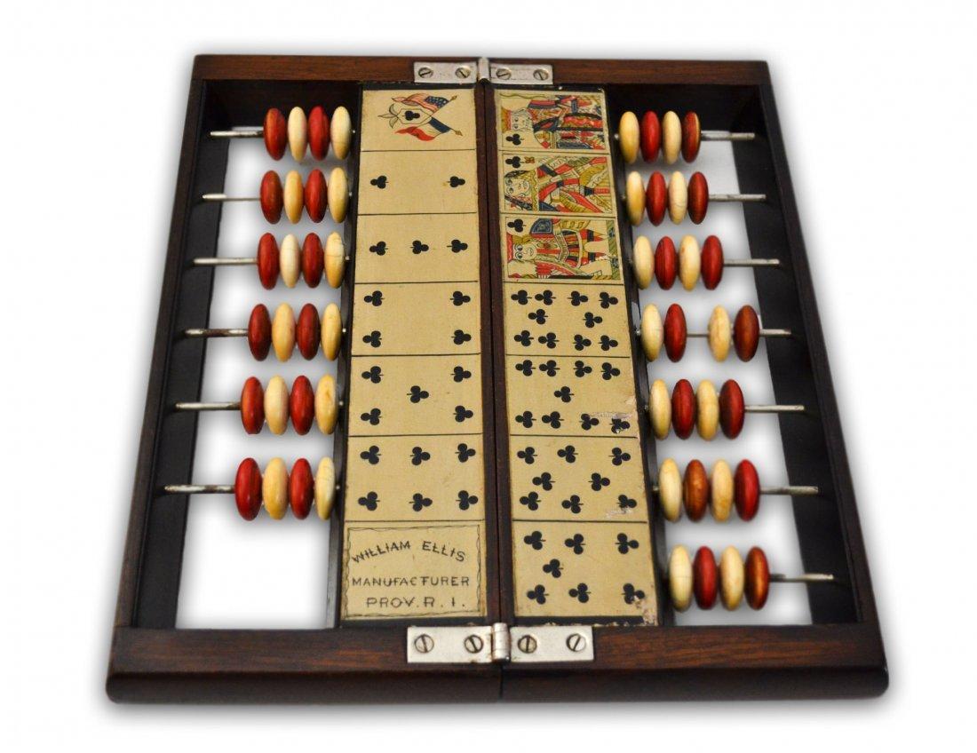 505: Faro Case Keep, Ivory & Rosewood, c 1900