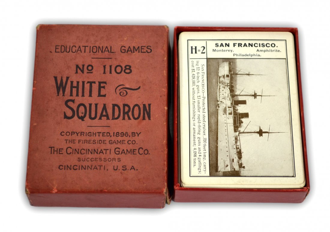 """507: Ship ID Cards, Card Game, """"Great White Squadron"""""""
