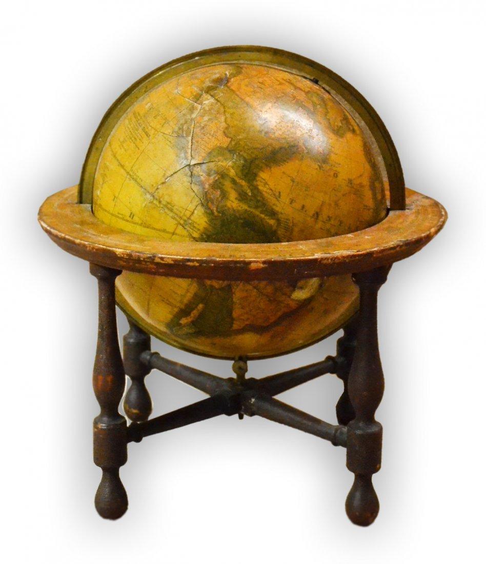 "509: Terrestrial Globe 9"", J. Wilson & Co, Albany 1824"