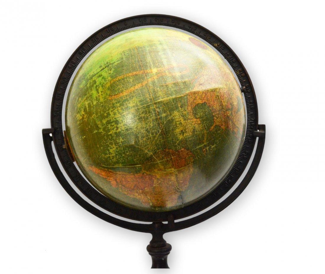 510: Globe, iron, on stand