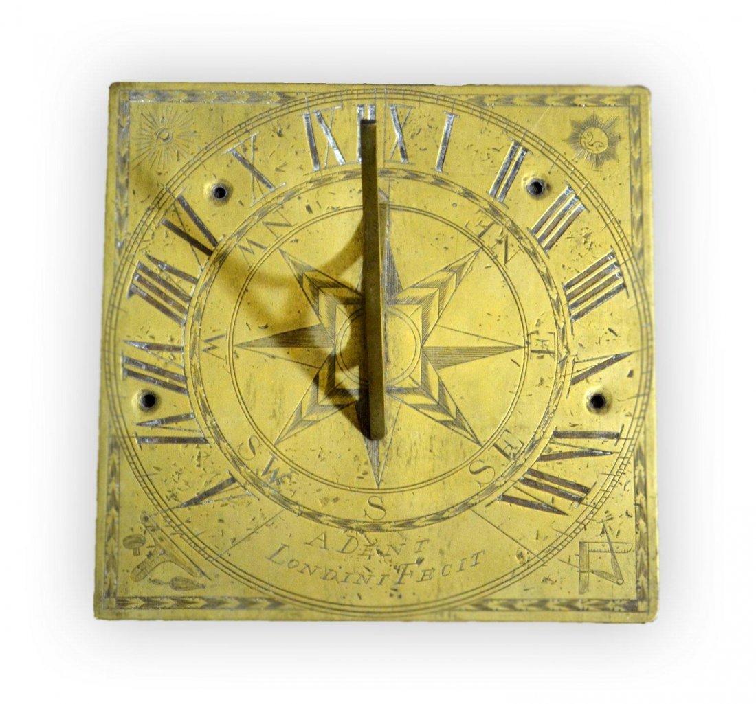 515: Sundial, maker A. Dent Londonini  C. 1700