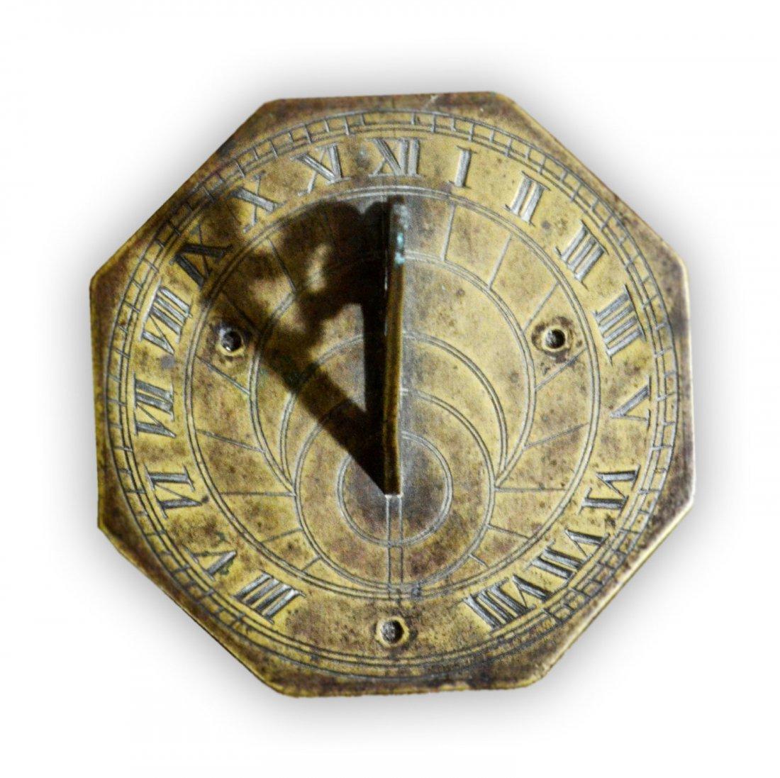 "521: Sundial, English 18th C 5"" Diameter"