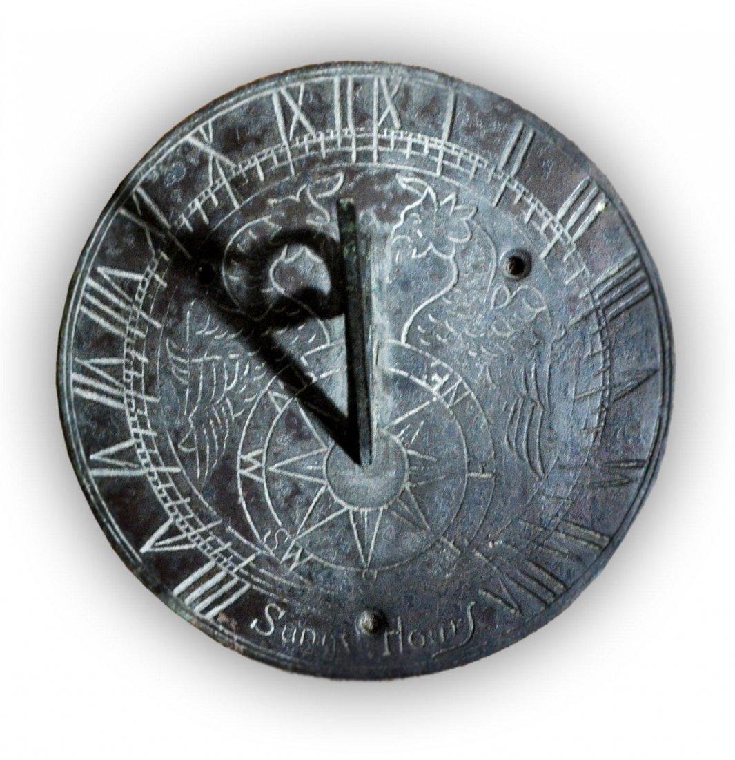 522: Sundial, 'Sunny Hours', Brass, 20th Century