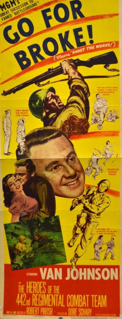 541: Movie Insert Poster 'Go For Broke' 1951
