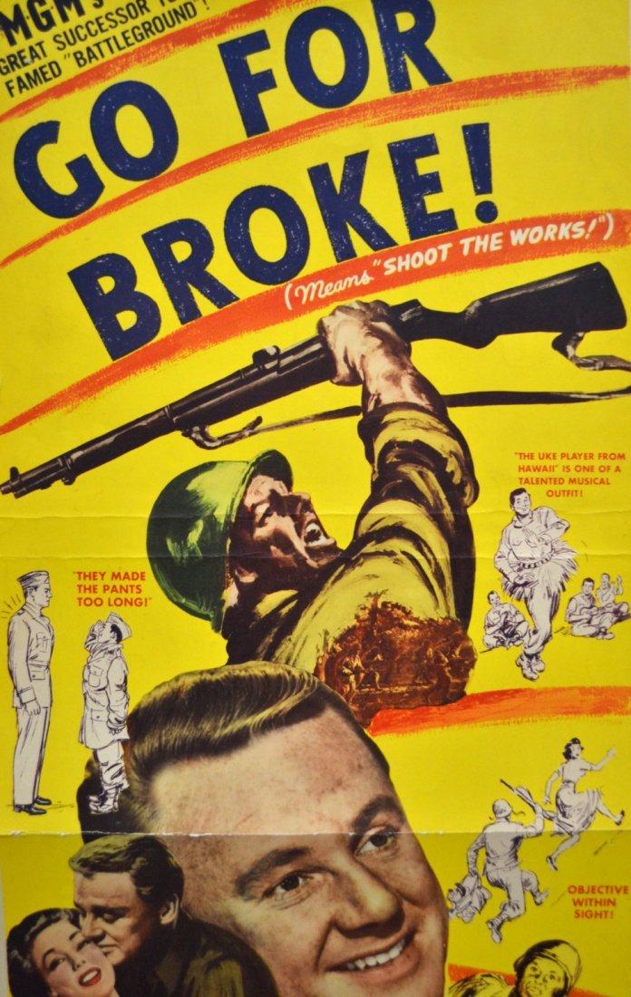 541: Movie Insert Poster 'Go For Broke' 1951 - 2