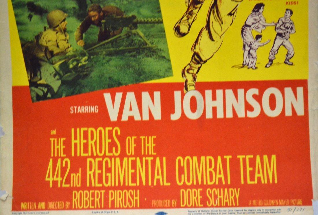 541: Movie Insert Poster 'Go For Broke' 1951 - 4
