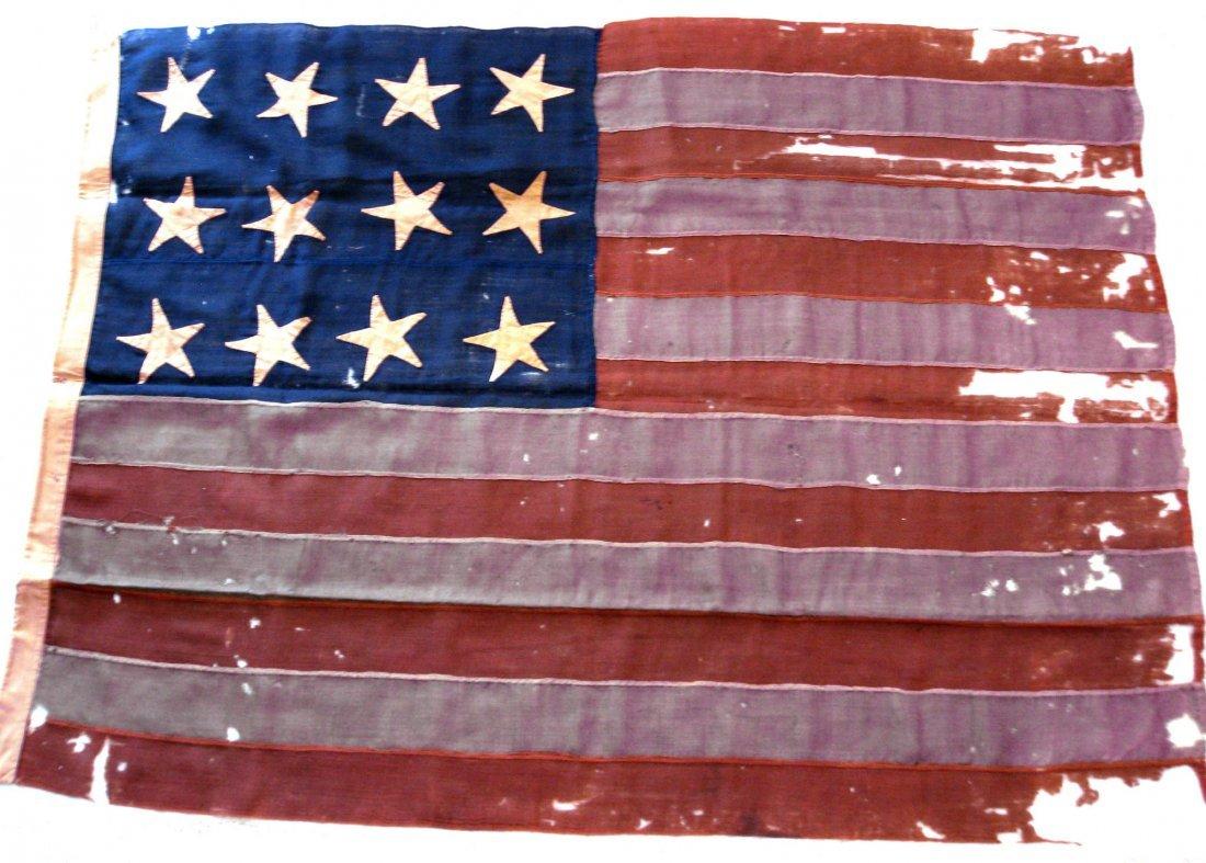 """807: Flag, period Confederate Secession 52"""" x 70"""""""
