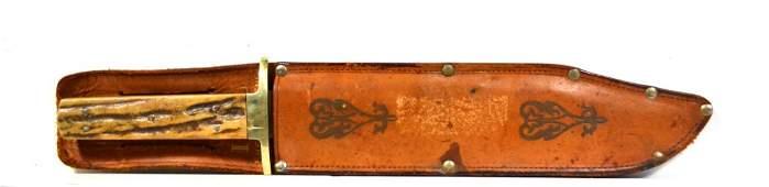 865: Bowie Knife, I-XL George Wostenholm, w/scabbard