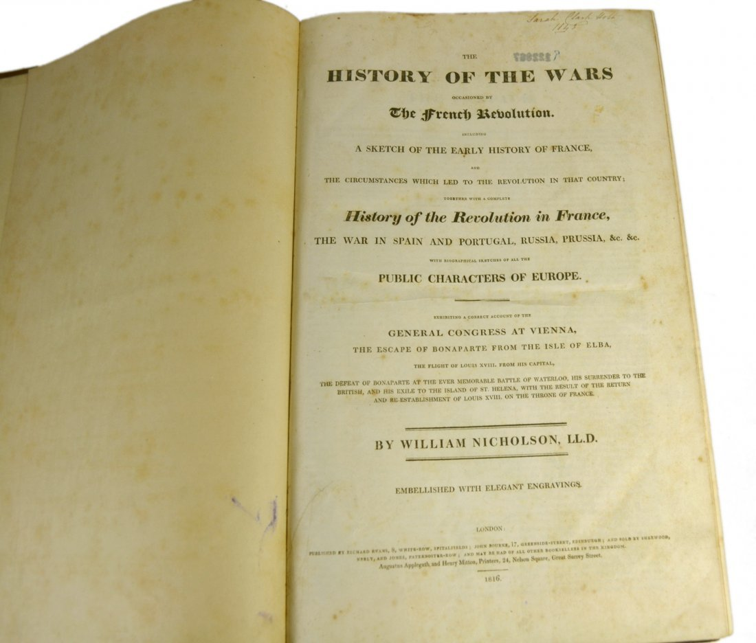 Book, The History of the Wars- French Revolution