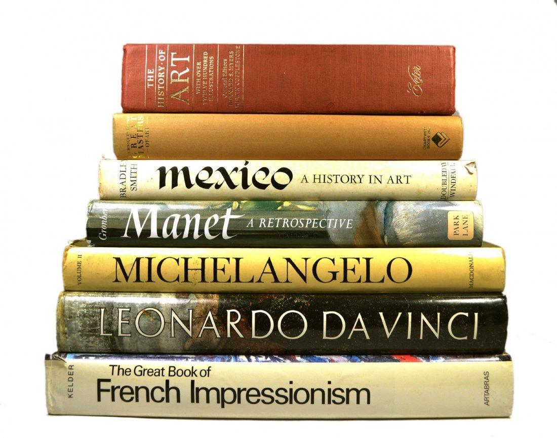 (7) Coffee Table Art Books, Da Vinci, Manet