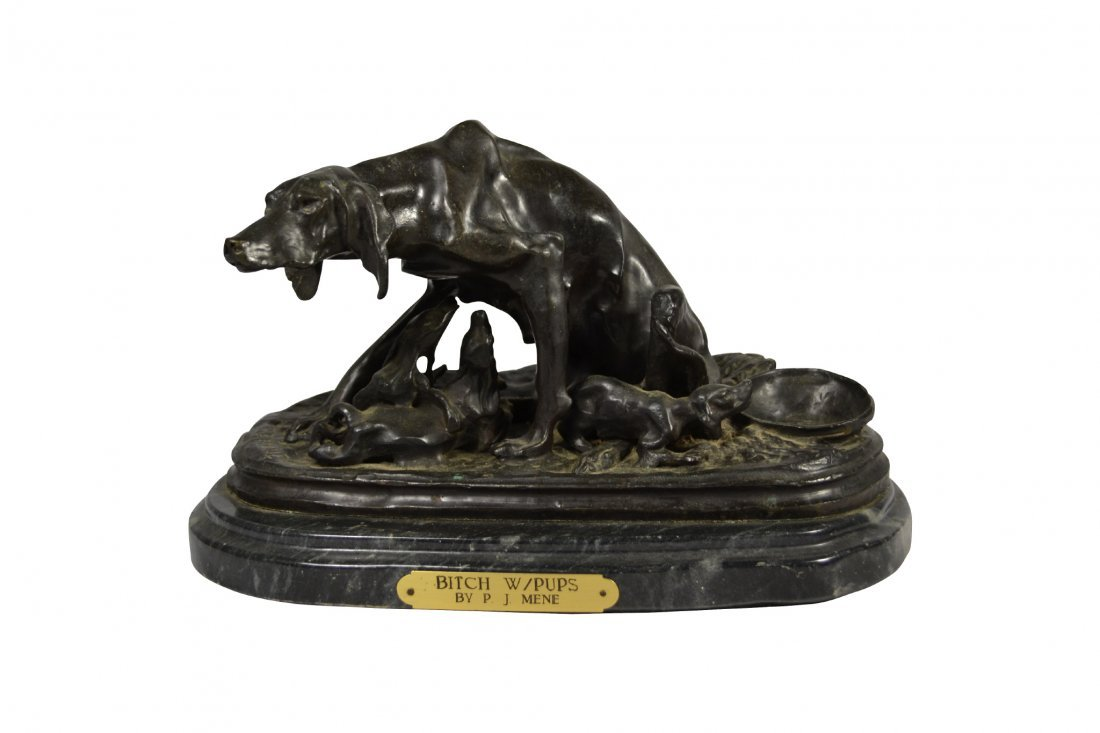"Bronze, ""Bitch With Pups"", P.J. Mene"