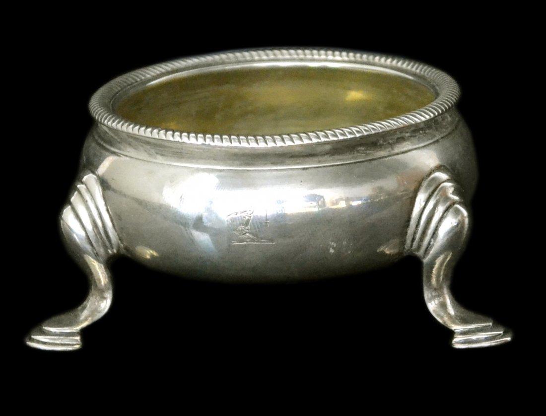 Salt, Silver, Trencher, Edward Wood, 1744, 3.2 oz.