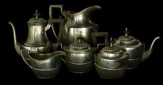 6-piece Assembled Service, Silver, Gorham, 90 ounces