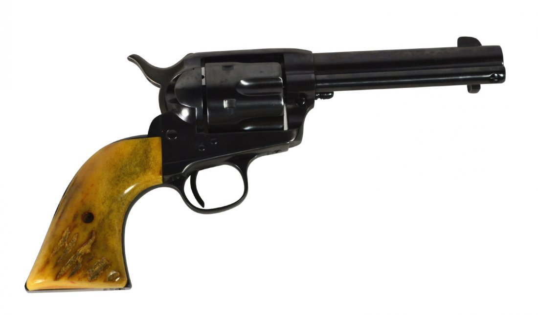 Pistol, Colt, .38cal, SAA c. 1895, stag grips