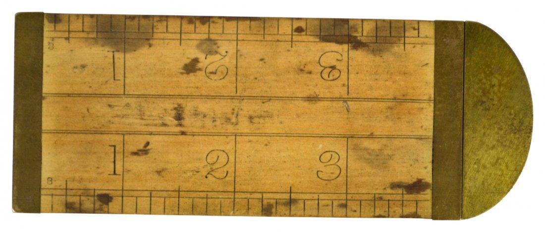 (2) Ruler & Caliper, Rabone & sons, brass, c.1880 - 3