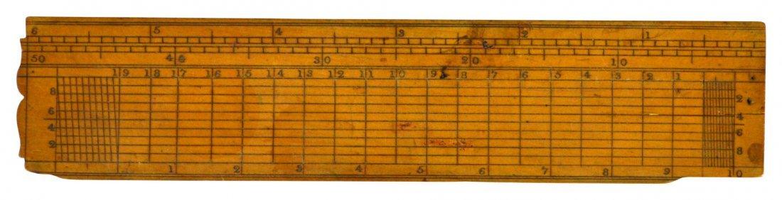 (2) Ruler & Caliper, Rabone & sons, brass, c.1880 - 5