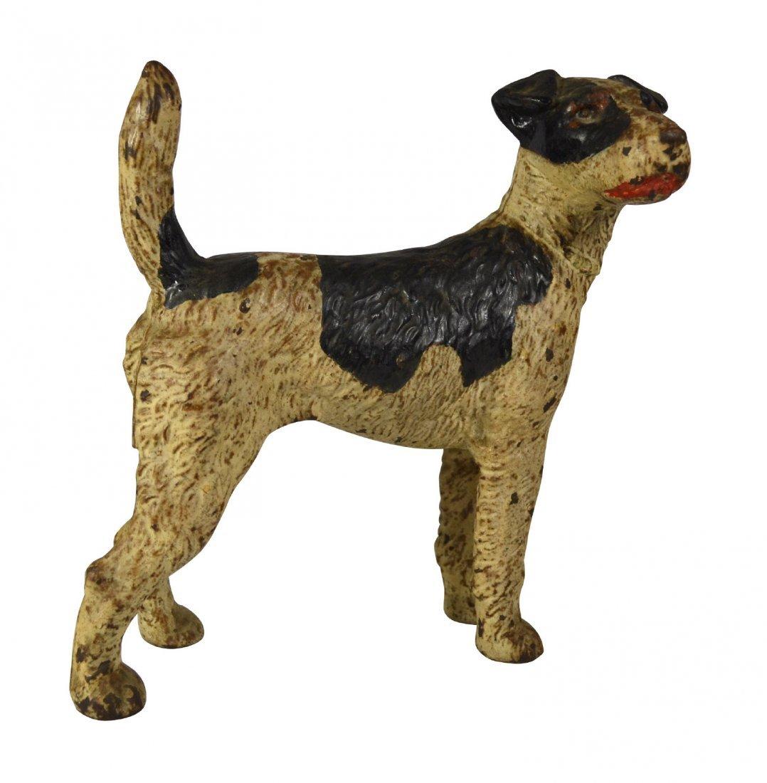 Doorstop, Wire Hair Fox Terrier, Hubley ? c.1930
