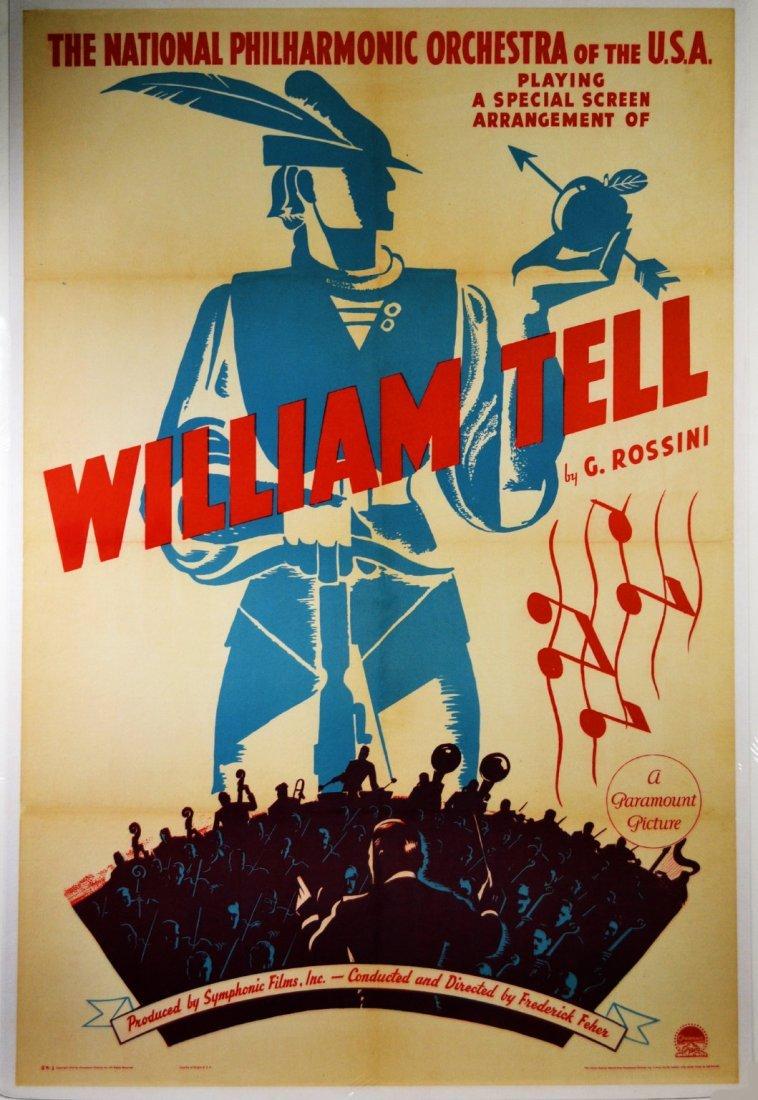 "Movie Poster, ""William Tell"" 1940"