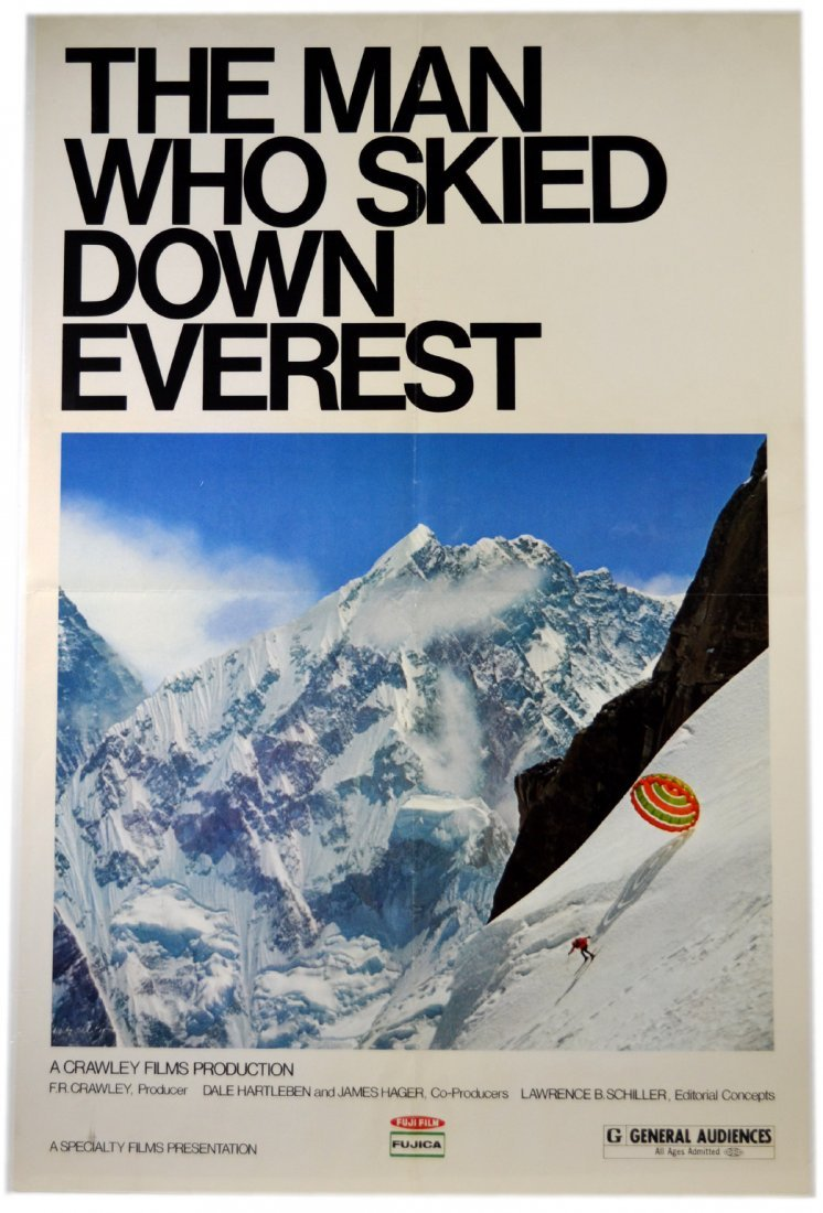 """Movie Poster, """"The Man Who Skied Down Everest"""""""