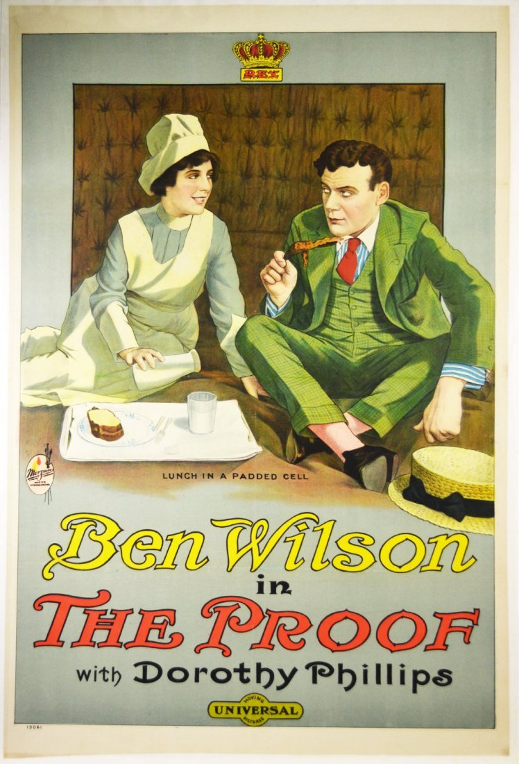 """Movie Poster, """"The Proof"""" 1915"""