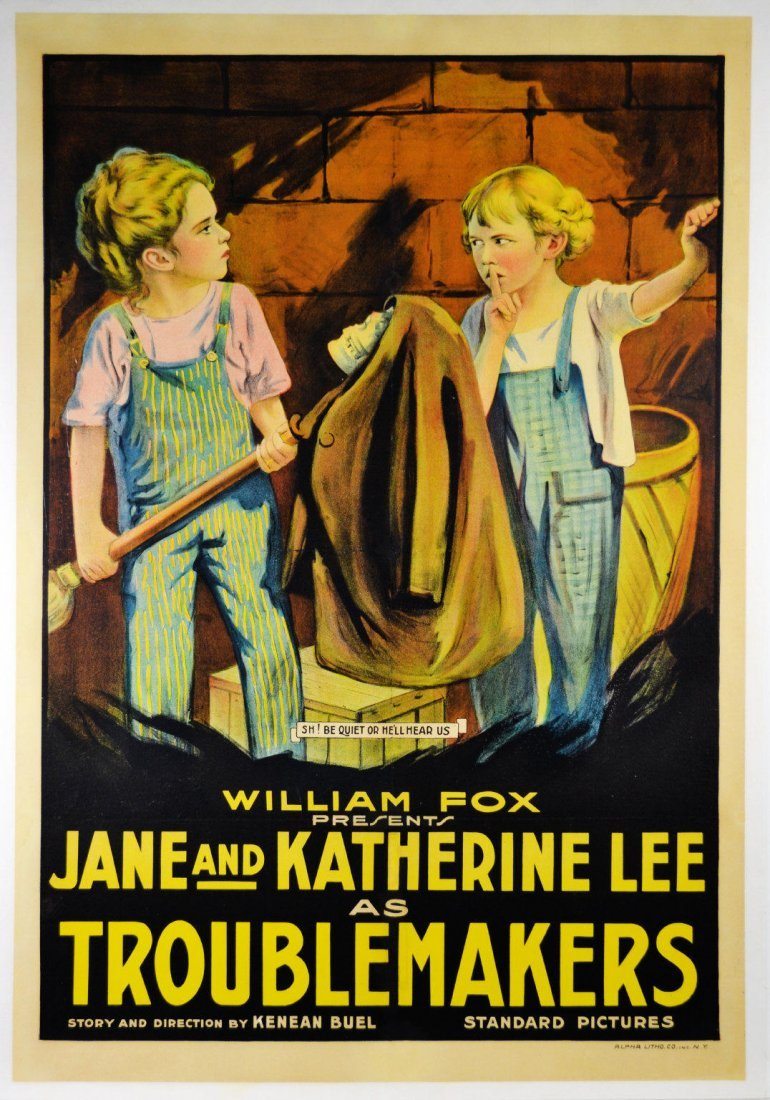 """Movie Poster, """"Troublemakers"""" 1917"""