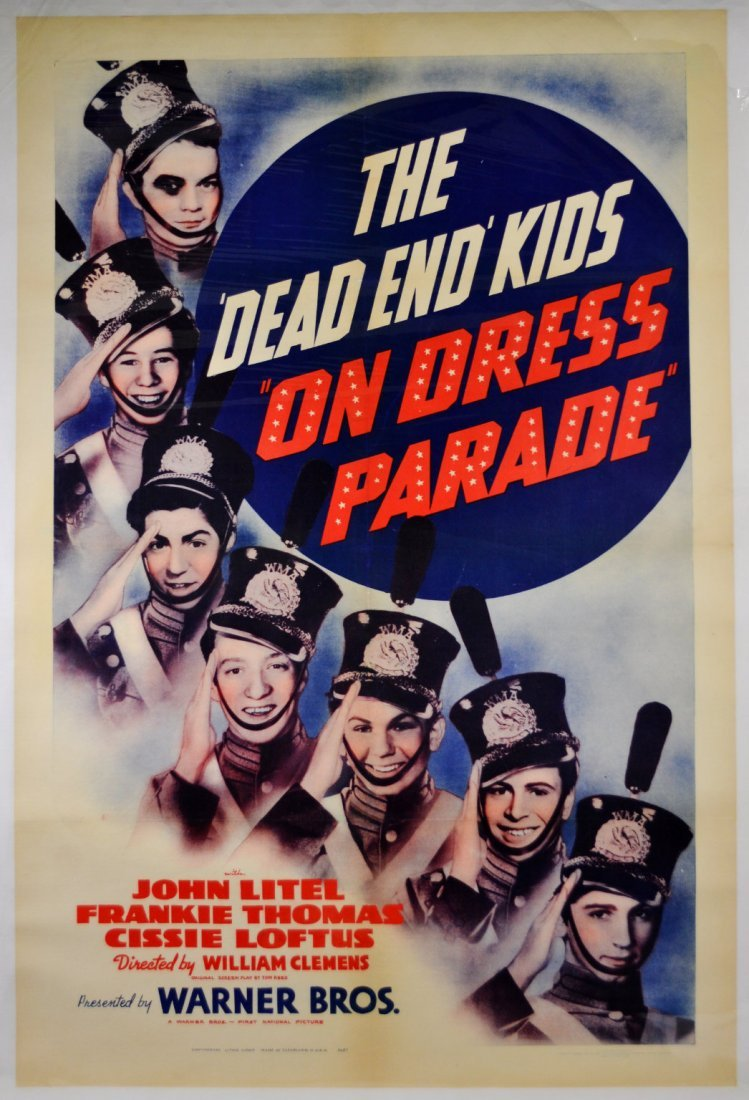 """Movie Poster """"The Dead End Kids on Dress Parade"""""""