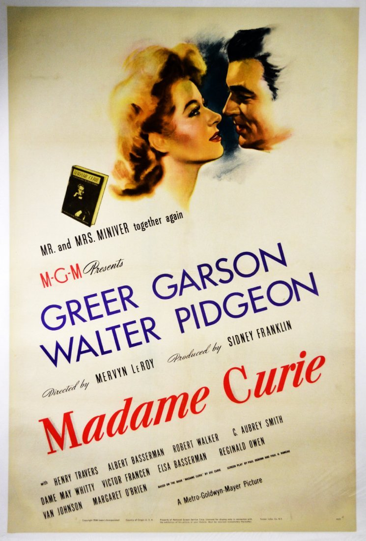 """Movie Poster, """"Madame Curie"""" 1944"""