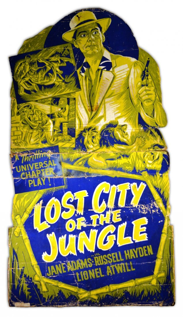 """Movie Poster, """"The lost City of the Jungle"""" 1946"""
