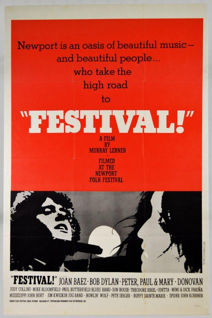 "Movie Poster, ""Festival!"" 1967, Bob Dylan"