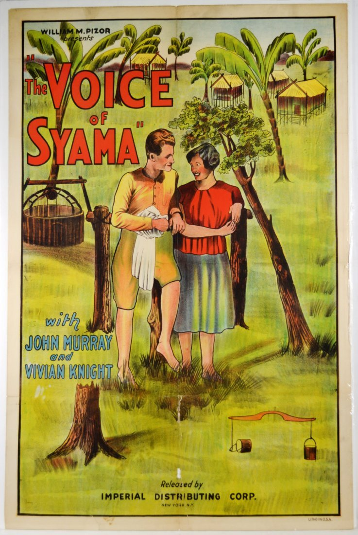 """Movie Poster, """"The Voice of Syama"""" 1934"""