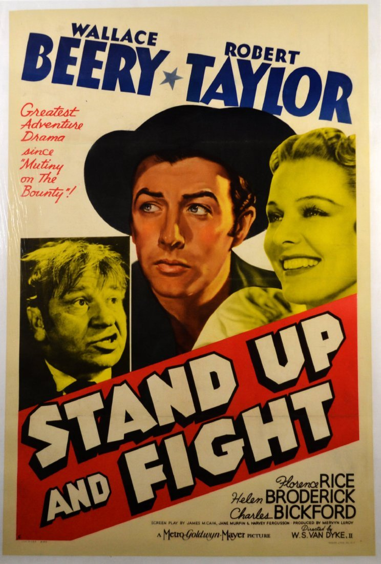 """Movie Poster, """"Stand Up and Fight"""" 1939"""