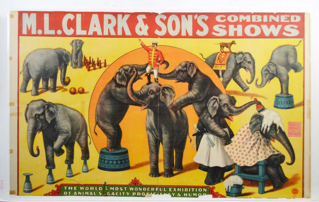 Circus Advertisement, M.L. Clark & Sons 1930 - 3
