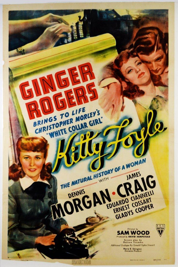 """Movie Poster, """"Kitty Foyle"""" 1940"""