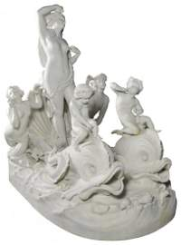 Sevres Biscuit Porcelain, grouping, 'Amphitrite'
