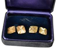 CufflinksTiffany 18k yellow gold wKrementz set