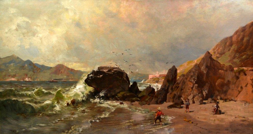 O/C Thomas Hill, 'Baker Beach, Fort Hill, S. F.