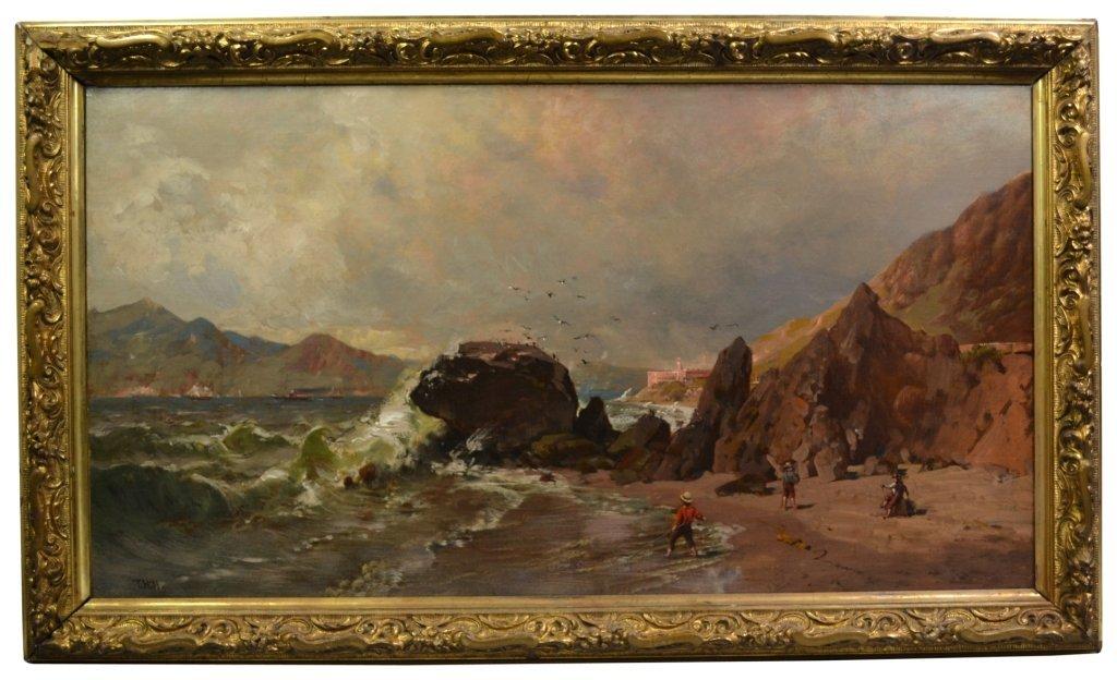 O/C Thomas Hill, 'Baker Beach, Fort Hill, S. F. - 3