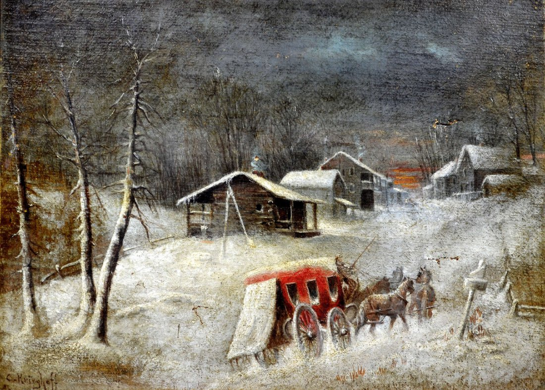 O/C By Cornelius Krieghoff, Canadian, Winter