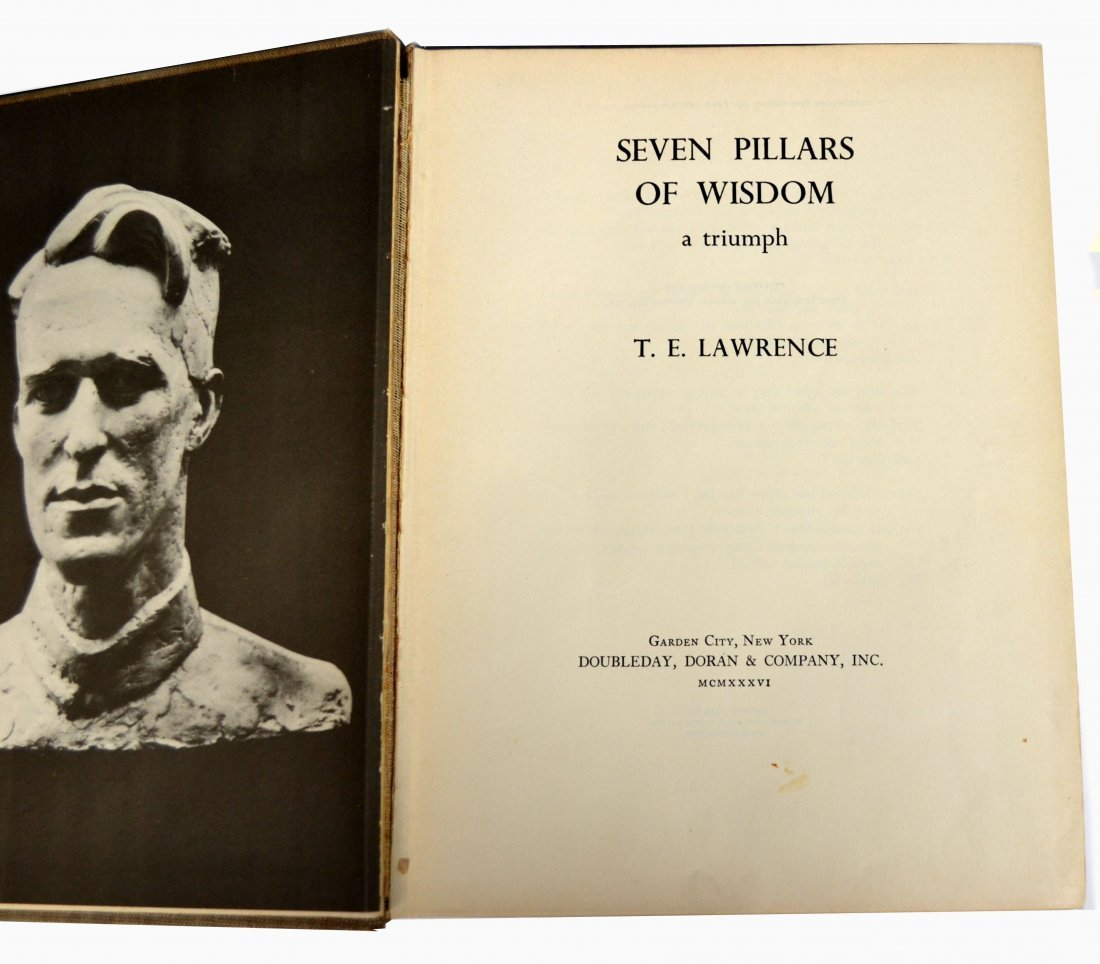 "Book, ""7 Pillars of Wisdom"" by T. E. Lawrence"