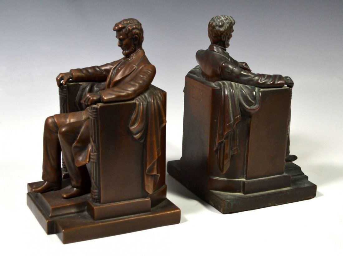 Pair Bookends, Abraham Lincoln, JB Figural